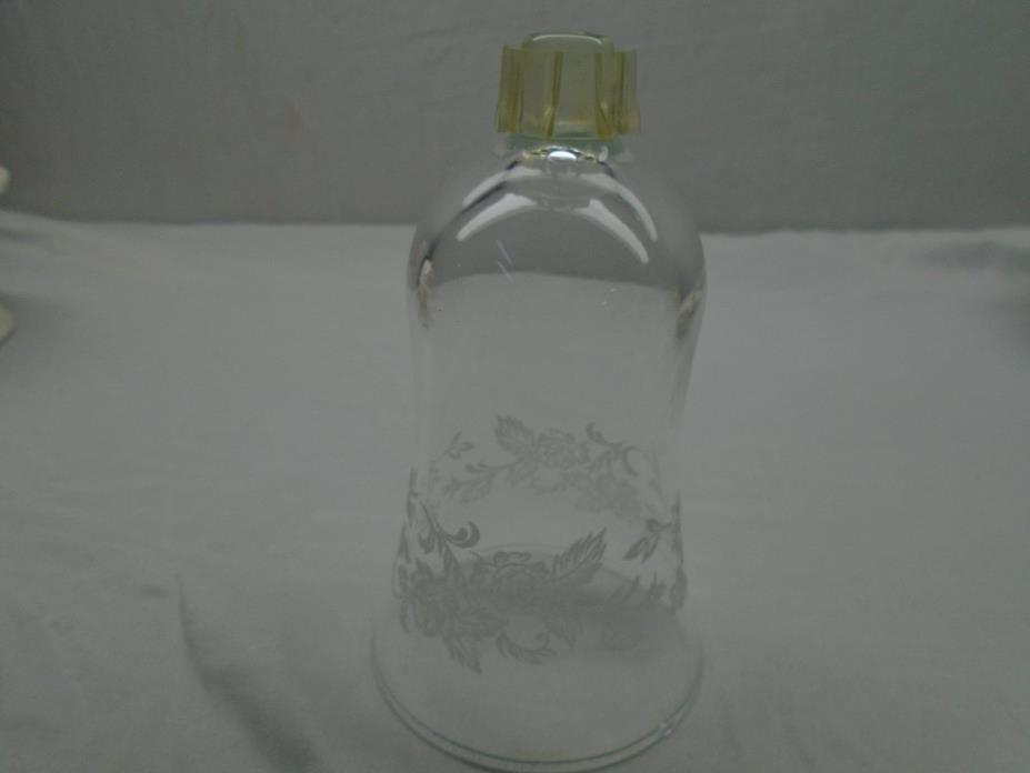 Home Interior Clear Glass Etched Floral Design Votive Candle Holder