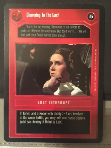 Star Wars CCG Premiere Charming To The Last Limited BB Black Border played