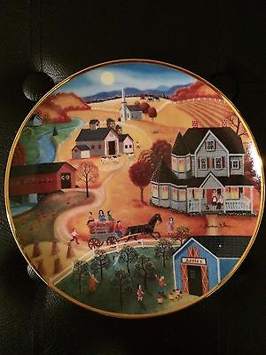 Country Harvest Collector Edition Plate by American Folk Art In Box