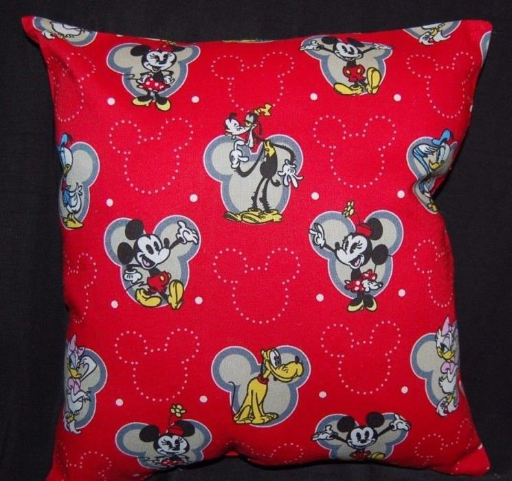 NEW DISNEY HANDMADE MICKEY MOUSE GOOGY PLUTO DONALD TRAVEL / TODDLER PILLOW