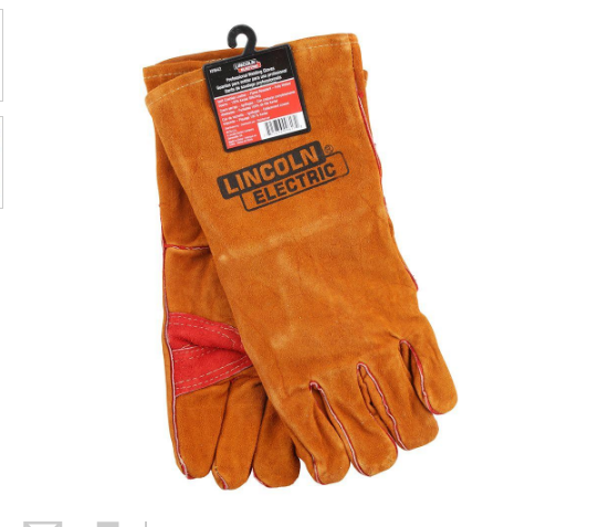 Lincoln Electric Welding Gloves Leather One Size Brown Heat Resistant Protection