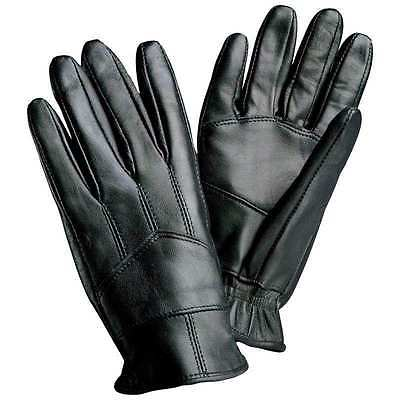 Motorcycle Gloves Solid Leather Soft Biker New Black Giovanni Navarre