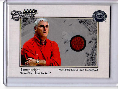Bobby Knight         Game used basketball   card