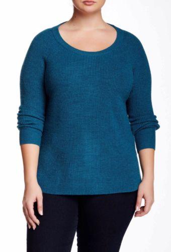 Tart NWT Woman's Plus Size 4X Turquoise Sorrel Wool Sweater