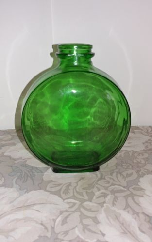 Vtg Dura Glas/ Owens, Il / Sunsweet # 17/ Green Canteen Shape Bottle