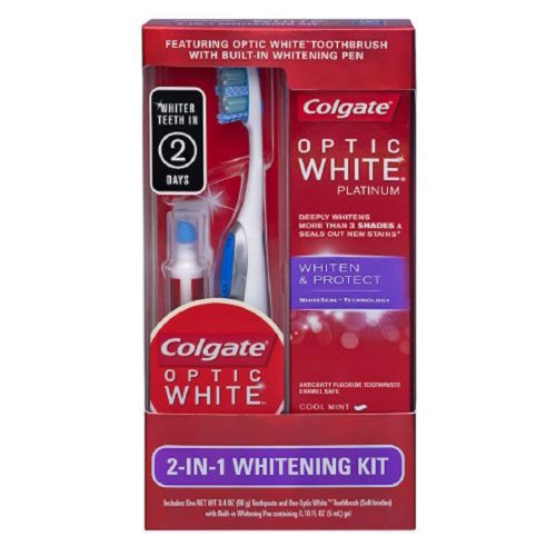 Colgate Optic White Platinum 2-in-1 Whitening Kit