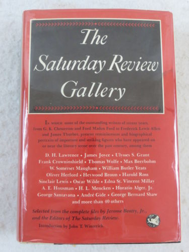 THE SATURDAY REVIEW GALLERY  Simon and Schuster 1st Printing 1959
