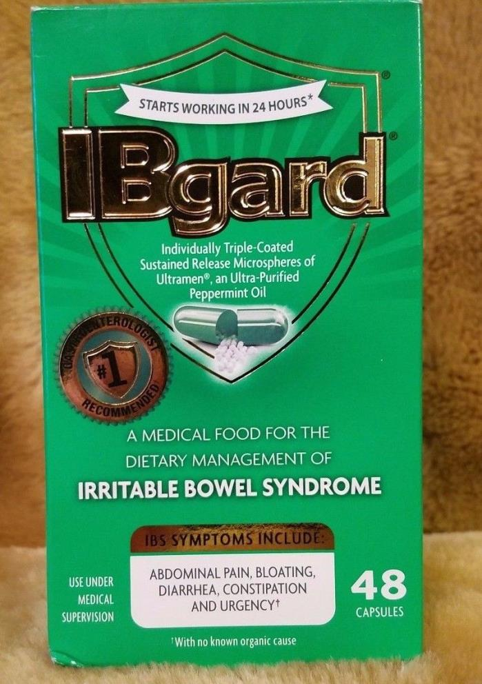 IBgard Irritable Bowel Syndrome 48 Capsules Exp 1/20 SEALED Free Shipping NEW