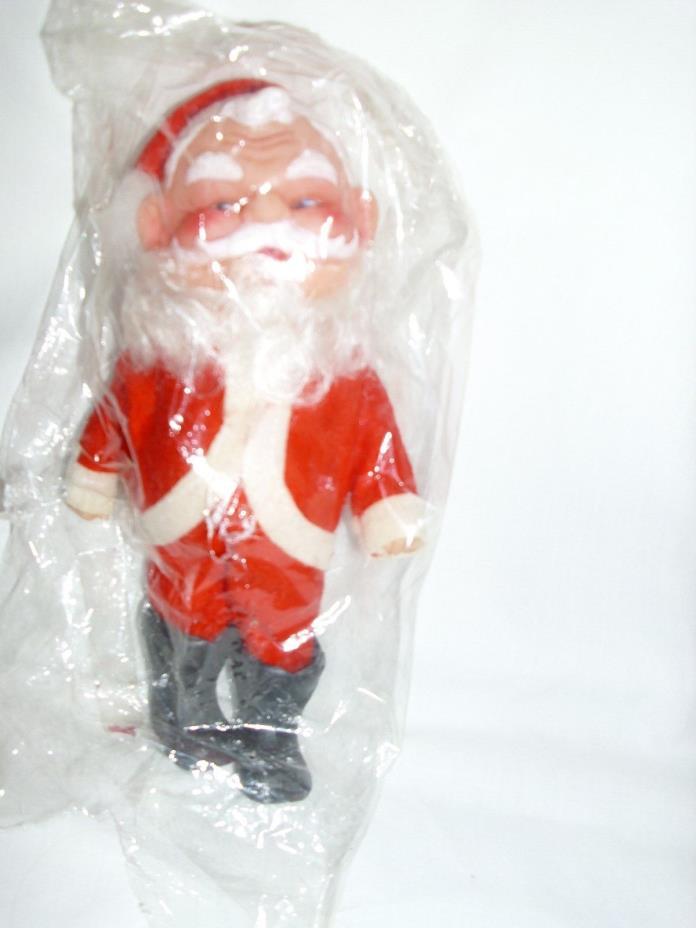 Christmas Vintage Soft Plastic Santa NIP