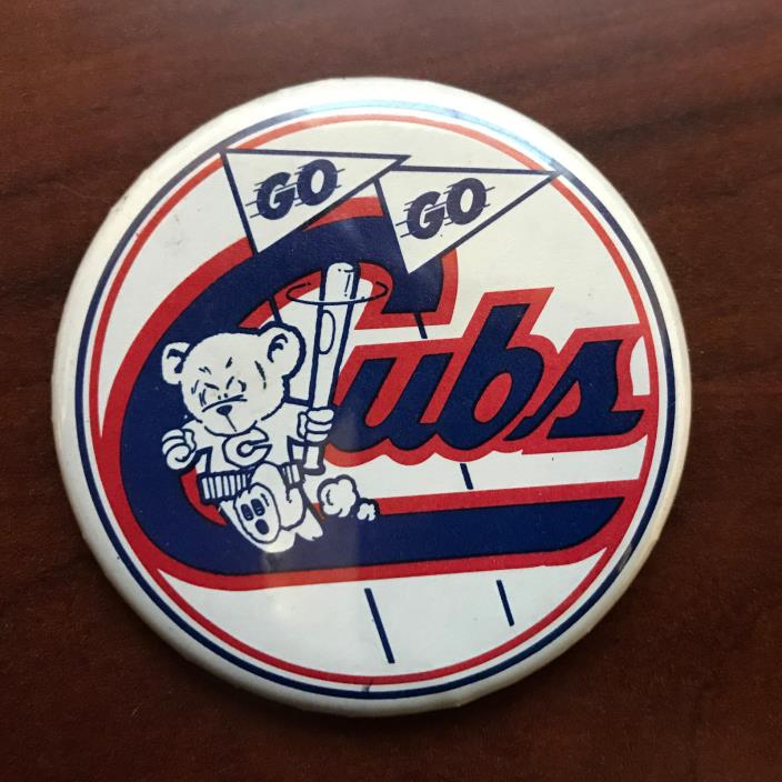 Vintage Chicago Cubs pin - Go Go Cubs Pin - free shipping!