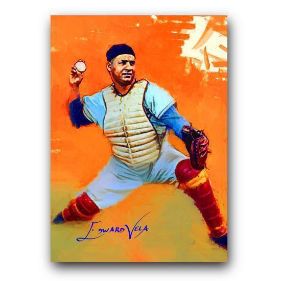 Roy Campanella Sketch Card Limited 27/100 Edward Vela Signed