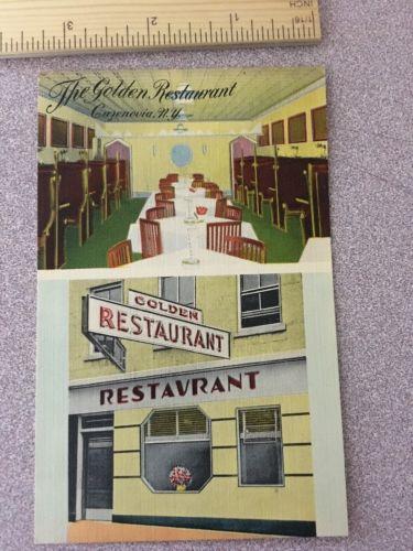 Vintage Postcard The Golden Restaurant Cazenovia NY