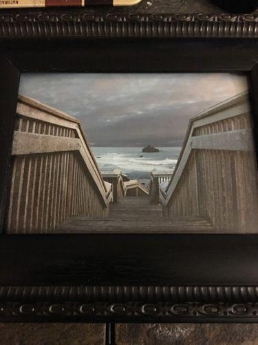 Framed Picture Of Beach Boardwalk 5x7