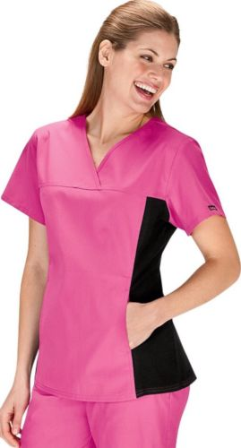 Cherokee Flexible Scrub Top Large Pink