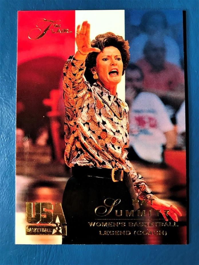 Pat Summitt 1994 Flair USA basketball card, # 117 University of Tennessee