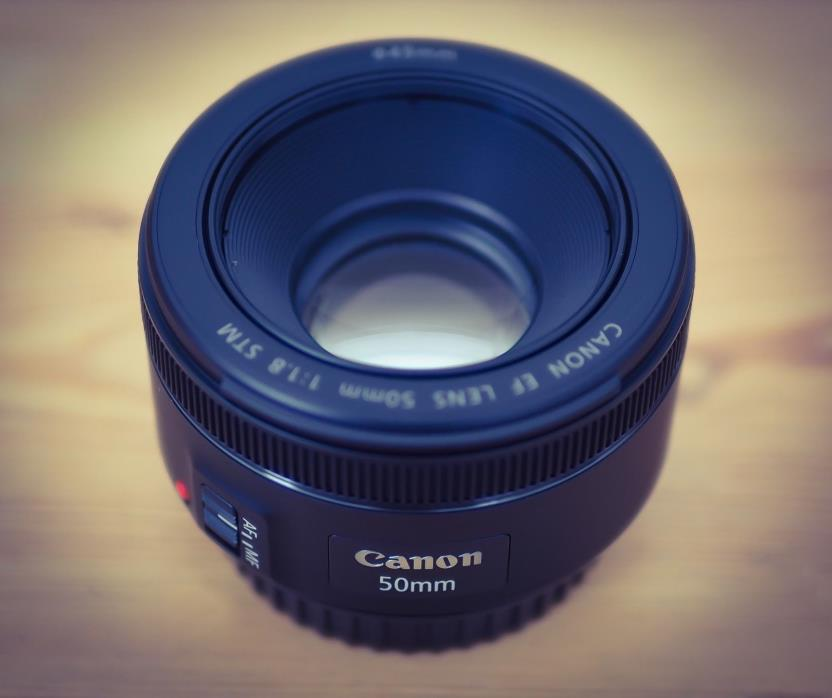 Canon EF 50mm f/1.8 STM Prime Lens with b+w filter