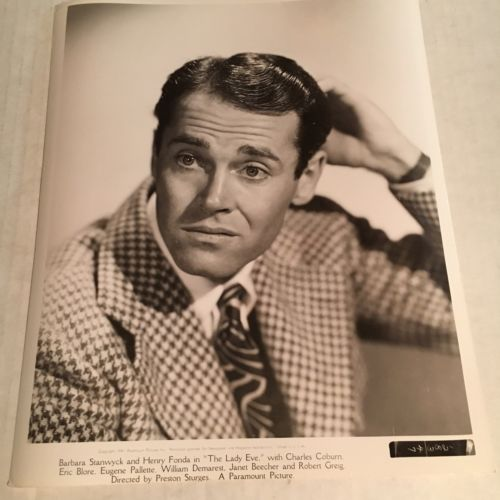 HENRY FONDA VINTAGE 8x10 PHOTO 1941 THE LADY EVE PARAMOUNT