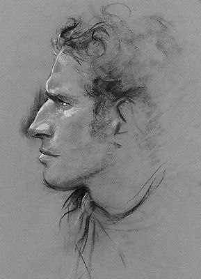 Charlton Heston Sketch - 8 1/2 X 11