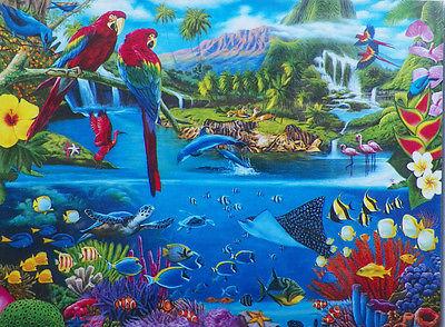 PUZZLE...JIGSAW....ART....RICHARDSON....Tropical Paradise II...500 Pc...Sealed