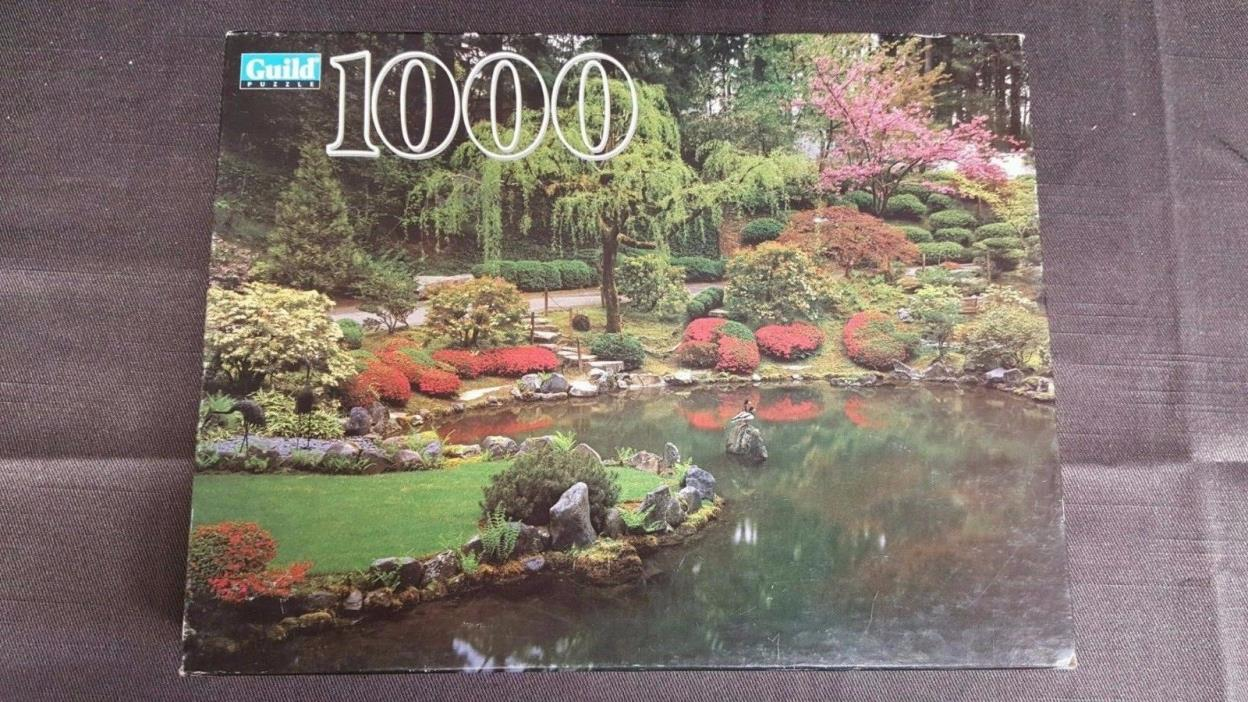 New Factory Sealed Guild 1000 Piece Jigsaw Puzzle Japanese Garden 1995