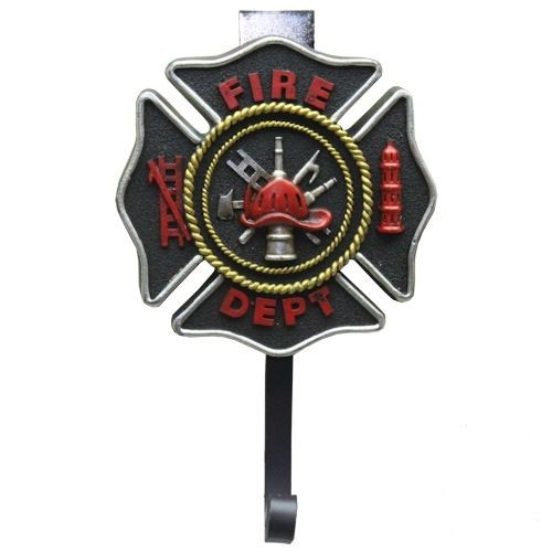 Firefighter / Maltese Cross Coat Wall Hook - NEW!@!@!@!@!@!@!@!@