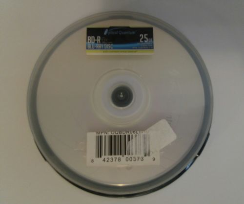 Optical Quantum 10 Discs 6X 25GB BD-R Single Layer Blu-Ray Recordable Logo Top