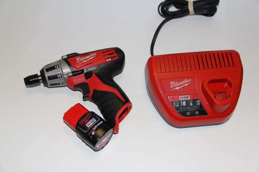MILWAUKEE 2401-20 M12 12V CORDLESS COMPACT DRIVER 1/4