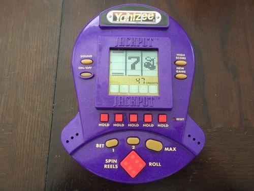 1999 YAHTZEE JACKPOT SLOTS HANDHELD ELECTRONIC GAME BY HASBRO - NICE