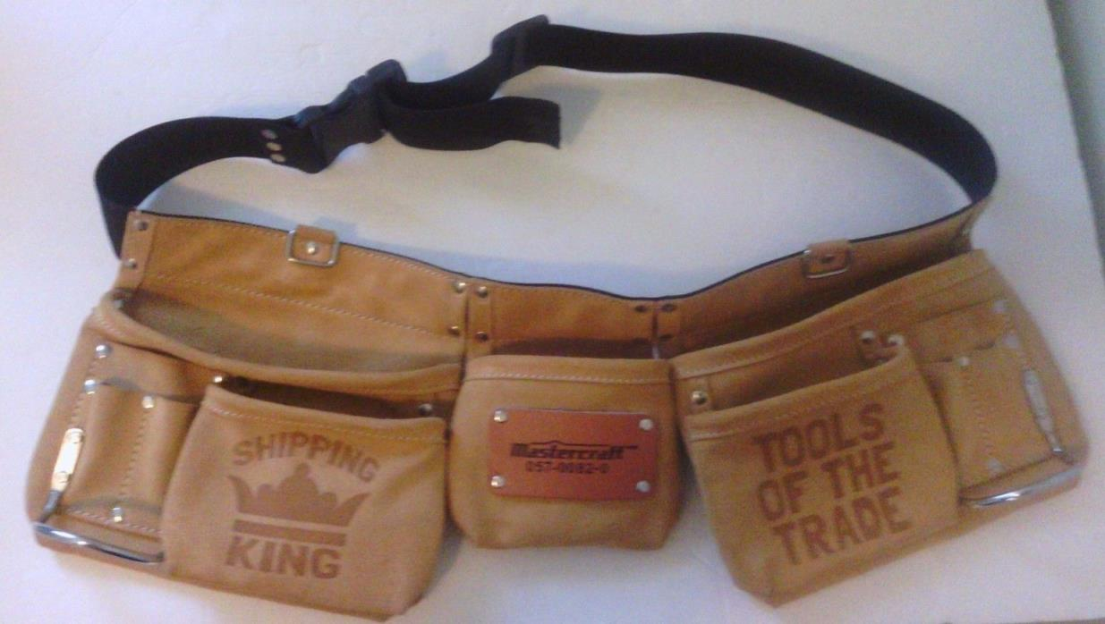 Mastercraft Suede Leather tool belt 057-0082-0 customized - see pics