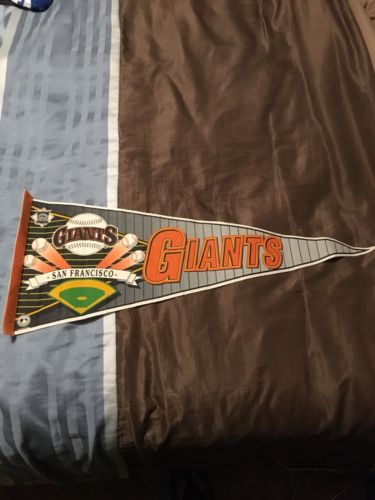 RARE Vintage 1990s Era SAN FRANCISCO GIANTS Baseball PENNANT Full Size 12x30