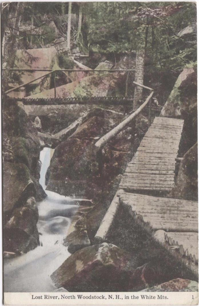 Lost River North Woodstock New Hampshire White Mountians Vintage Postcard L79
