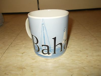 STARBUCKS BAHAMAS BLUE SAIL BOAT CITY MUG CUP 2008 20 oz