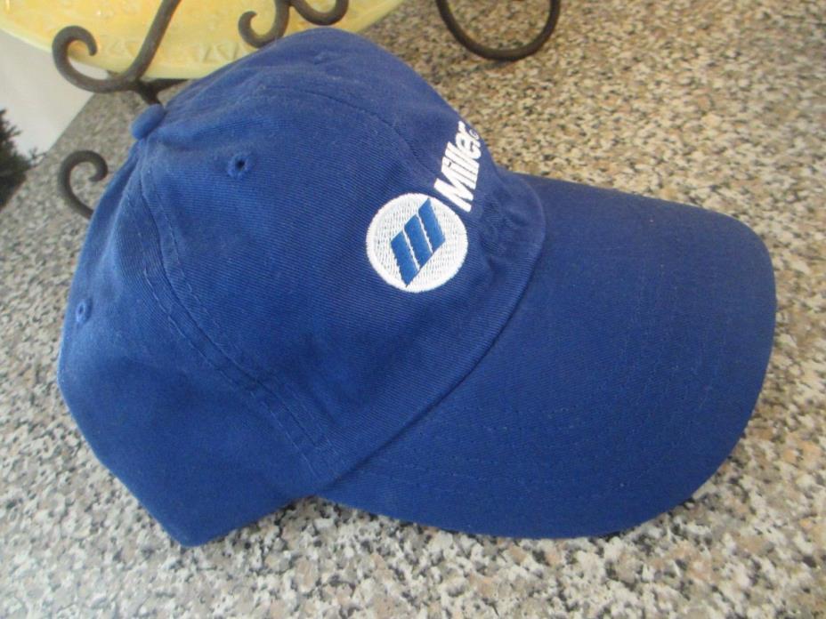 Miller Electric Welder Welding Hat Cap Blue Adjustable Strap