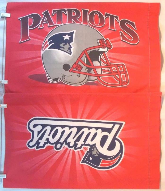New England Patriots Pillowcases Set of 2 Standard/Twin Red NFL Team NE Logo