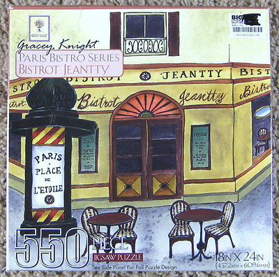 Gracey Knight Bistrot Jeantty Jigsaw Puzzle Creative Edge 550 Pieces Complete
