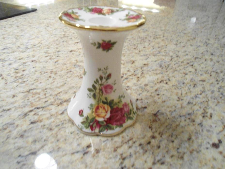Royal Albert Old Country Roses candlestick for tapered candle 1962