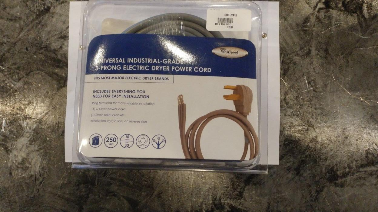 Universal Electrical-Grade 3-Prong Electric Dryer Power Chord