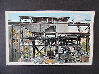 1920s Steel Tipple Cooperative Kentucky Coal Mine Mining Scene Postcard