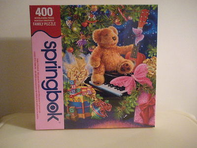 SPRINGBOK CHRISTMAS BEAR WISHES Puzzle-NEW-SEALED  400 Pieces 2011 MADE U.S.A.