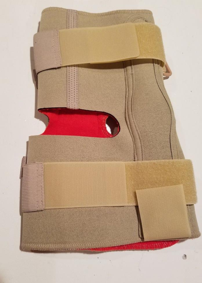 60958 THERMOSKIN OPEN WRAP HINGED KNEE BRACE - BEIGE - SIZE:5XL BULK PKG