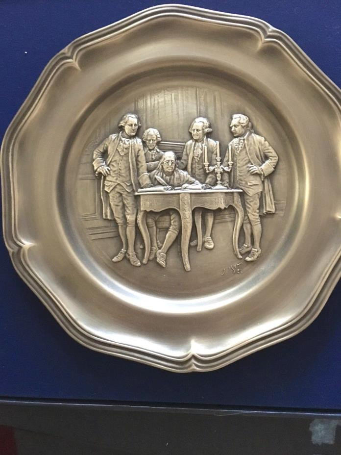 Franklin Mint, The American Revolution Bicentennial Pewter Plate