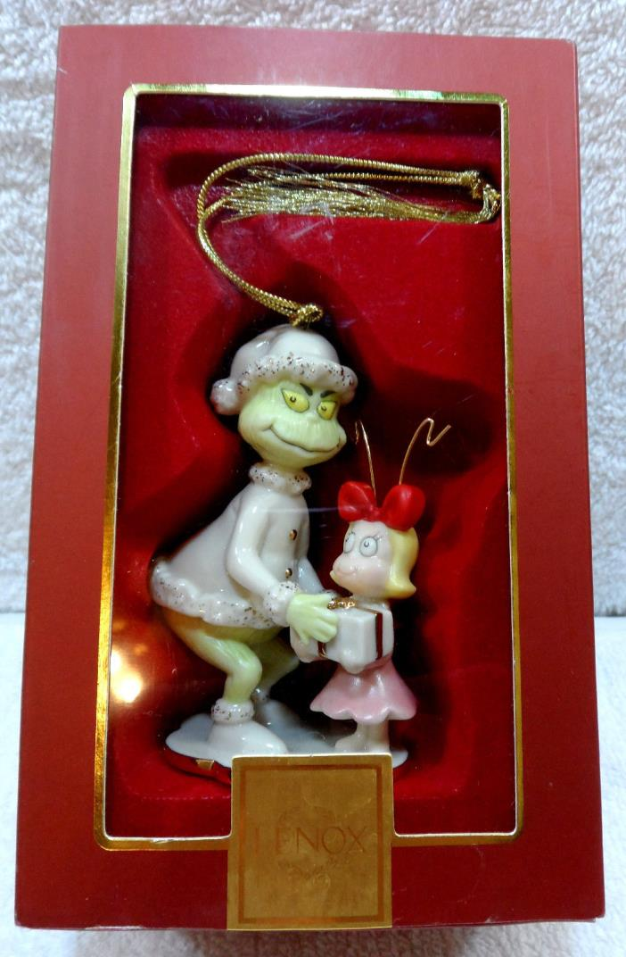 CHRISTMAS ~ LENOX ~ Cindy Lu & The Grinch Too ORNAMENT ~ c2006 ~