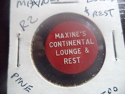 Pine Grove PA Maxine's Continental Lounge & Rest Trade Token 25c in Trade