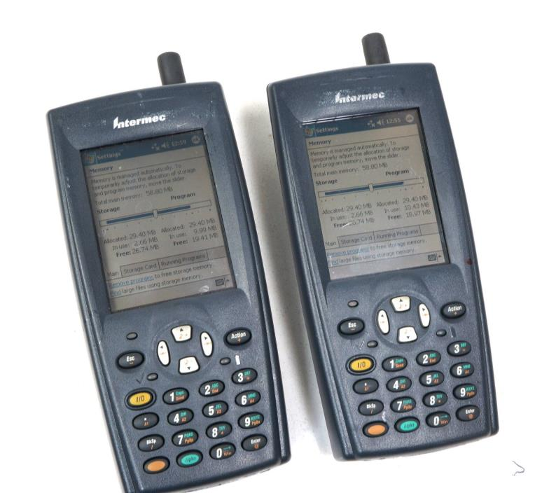 Set of 2 Intermec 700C Mobile Handheld Computer Barcode Scanner