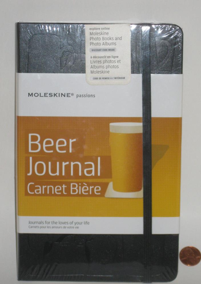 MOLESKINE PASSIONS BEER JOURNAL - 5x8 1/4 - BLACK - NEW/FACTORY SEALED