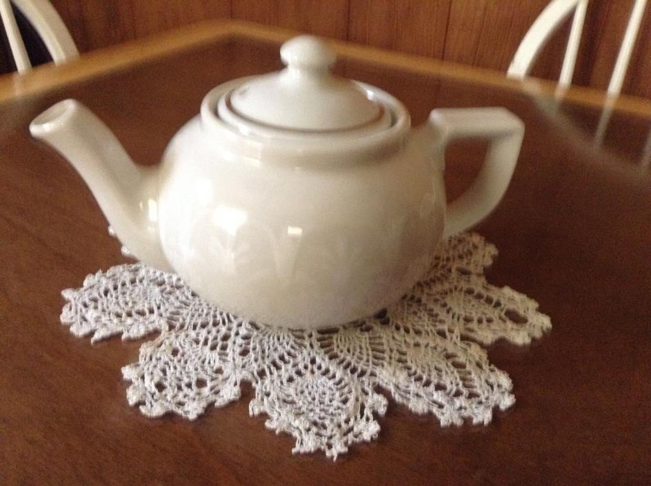Charming white teapot Jackson Custom China Falls Creek, PA