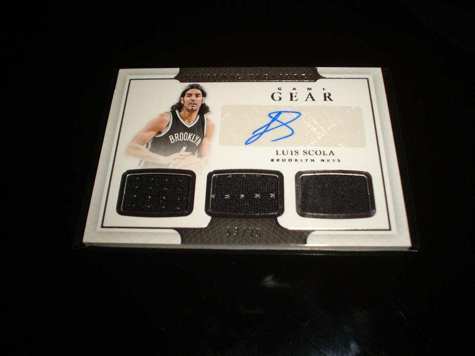 2016-17 National Treasures Luis Scola Nets Auto Jersey 53/75 Game Gear