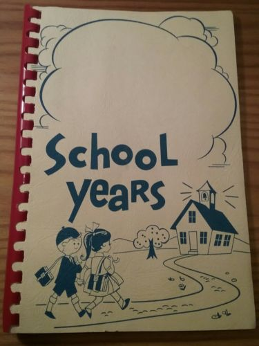 Vintage School Years Pocket Page Report Card Holder Memory Record Keeper 1965