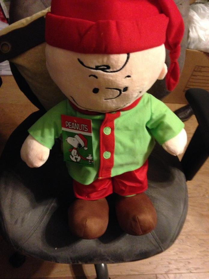 NEW GREAT PEANUTS CHARLIE BROWN CHRISTMAS DOOR GREETER WITH FREE SHIPPING
