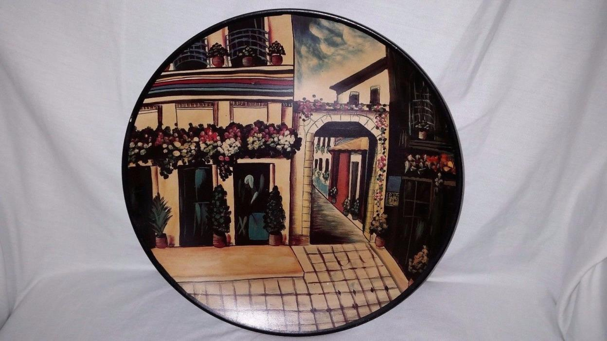 Kirkland's Decorative Plate Cafe Scene